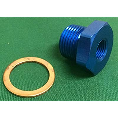 Oil Water Pressure Temp Sensor Adapter M18x1.5-1/8 NPT NEW BLUE: Automotive
