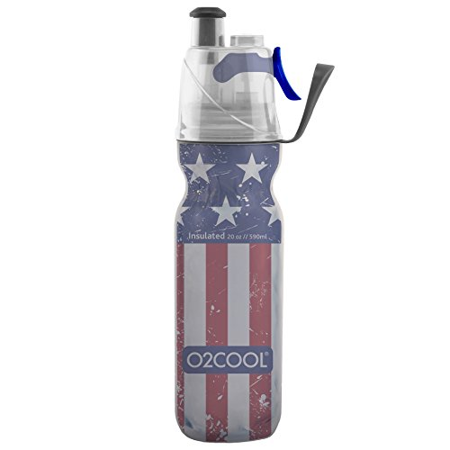 (O2COOL ArcticSqueeze Insulated Mist 'N Sip Squeeze Bottle 20 oz., Patriotic Two)