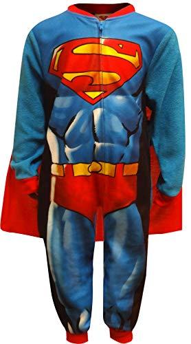 Komar Kids Boy's Superman Caped Costume Fleece Pajama Sleeper (Small 6/7)