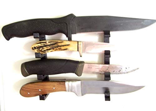 Knife Display Stand Knife Rack Fixed or Folding Blade Medium Knives Wall Mount ()