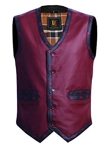The Jacket Makers Warriors Vest Faux Leather Large Suitable for Mens Chest 42 to 44 inches