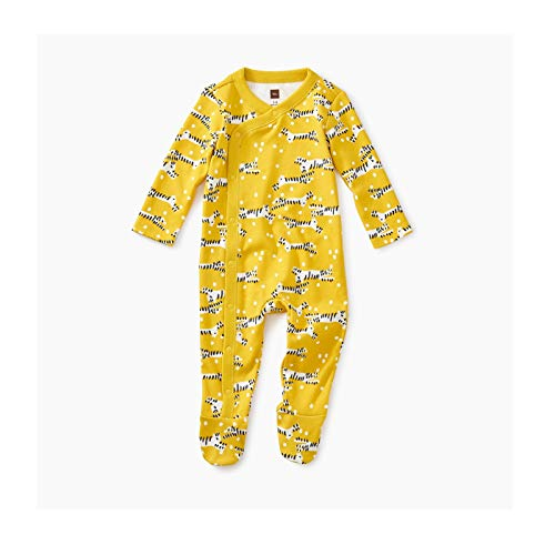 - Tea Collection Footed Romper, 3-6 Months, Tiger Tiptoes