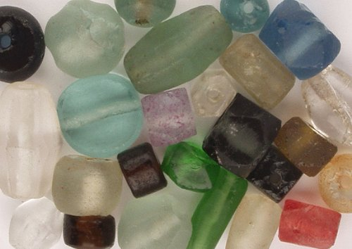 Recycle Glass Bead (Beads - Recycled Glass, Nice Mix - 99+ Pcs, Asst, Pairs and Singles, Always Extras)