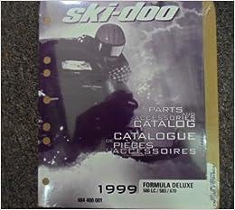 1999 Ski Doo Formula Z 500 583 670 Parts Accessories Catalog Service Oem Manual Ski Doo Amazon Com Books