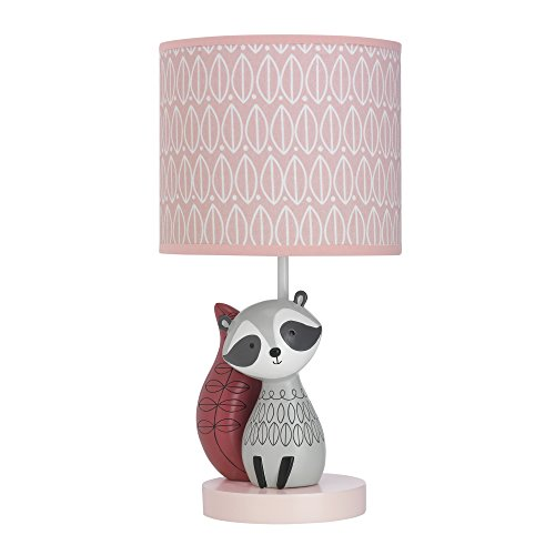 Lambs & Ivy Little Woodland Lamp with Shade & Bulb, Gray