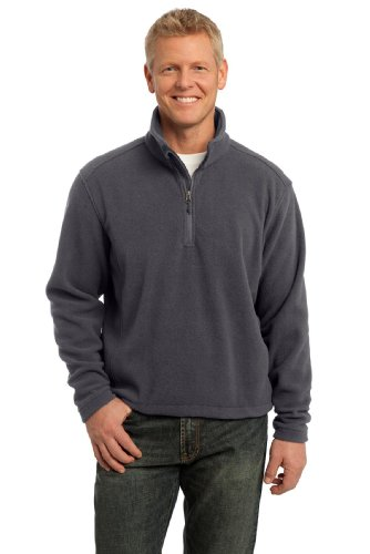 Port Authority Men's Value Fleece 1/4 Zip Pullover XL Iron Grey