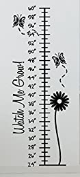 Growth Chart Butterflies 04 Wall Decals Stickers, Black, 48\