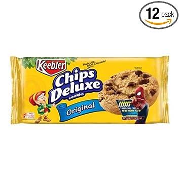 amazon com keebler chips deluxe original cookie 12 6 ounce 12