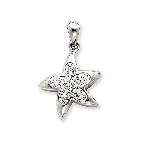 Silver Swarovski Synthetic Crystal Star - Star Crystal Tipperary