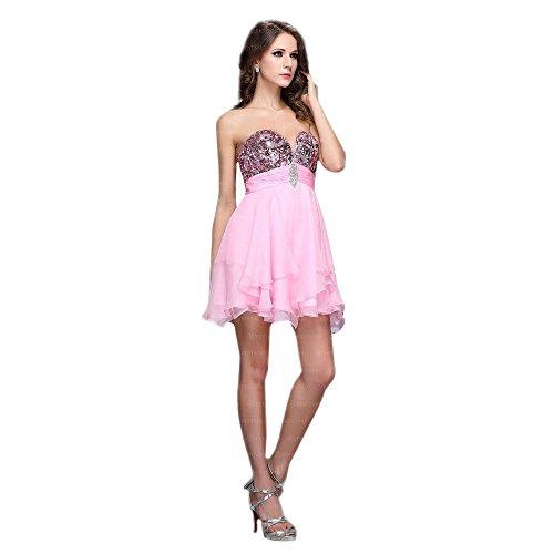 Festamo Ital Für Rosa Kleid Damen Cocktail bei Mini Design UUF7p