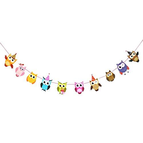 MagiDeal Cartoon Animals Birthday Decoration