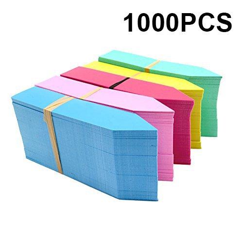 KINGLAKE 1000 Pcs 4 Inch Plant Tags Multicolor Garden Nursery Labels Plastic Pot Labels,Box of 1000 by KINGLAKE