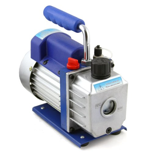 XtremepowerUS 1/2 HP Two Stage Vane Vacuum Pump 5 CFM Air Conditioner Refrigeration HVAC Air AC A/C R410a R134