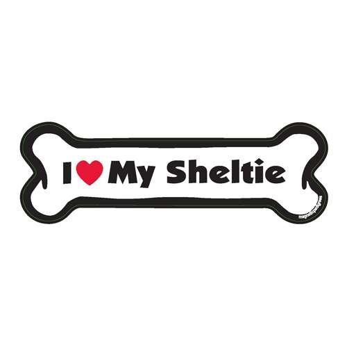 Sheltie Dog Bone Magnet