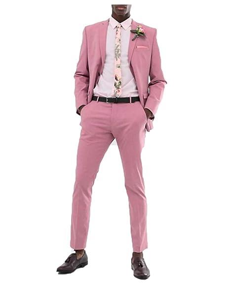 braidalsuits - Traje - para Hombre Rosa Rosa XS: Amazon.es ...