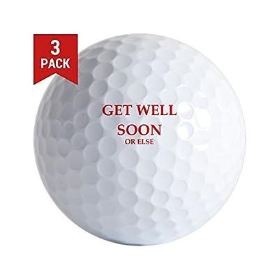 CafePress - Get Well Golf Ball - Golf Balls (3-Pack), Unique Printed Golf Balls