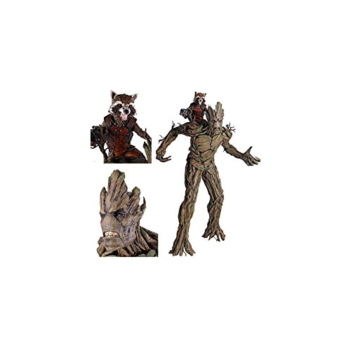 Guardians of the Galaxy Movie Rocket Raccoon and Groot Statue by Gentle Giant