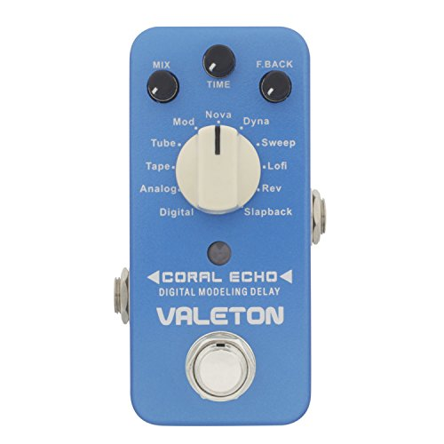 Valeton Coral Echo 11 Types Digital Delay Guitar Effect Pedal by Valeton