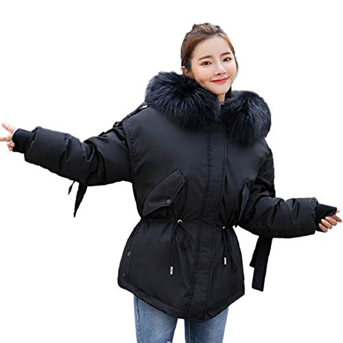 afb63c7b664 Gallity Womens Warm Down Coat Plush Hoodie Parka Zip Up Jacket Winter Coat  Outerwear (L