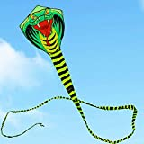 AMLJM Free Shipping High Quality Large Snake Kite Cobra Kite with Handle Line Outdoor Toys for Adult Bird Kite Eagle Animal Bee