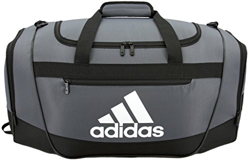 adidas Women's Defender III small duffel Bag, Onix/Black/White, One Size