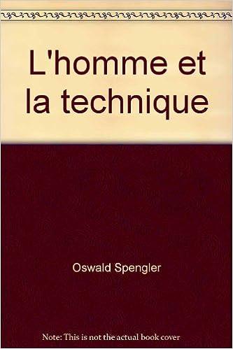 Lire L'Homme et la technique pdf
