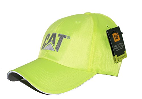 Caterpillar CAT Hi-Vis Safety Yellow Workwear Trademark Cap