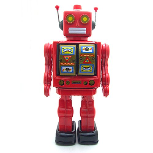 Retro Wind-Up Large Electric Rotate Walking Robot Tin Toy Adult Collectible ()