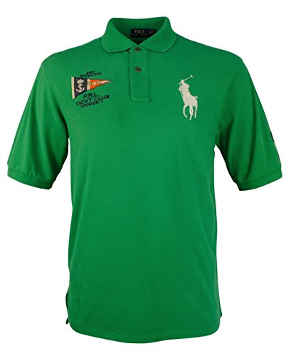 Polo Ralph Lauren Men's Yacht Club Big and Tall Large Pony Shirt Green - Ralph Green Polo Lauren