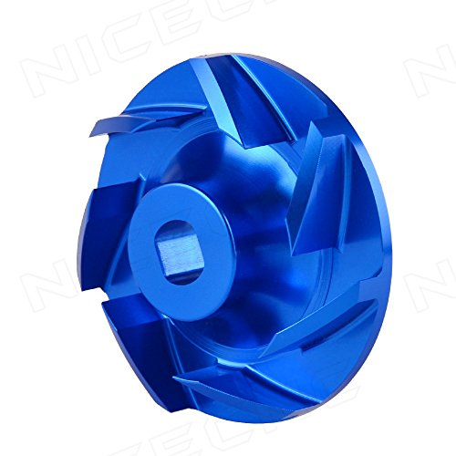 NICECNC Blue Billet Aluminum Water Pump Impeller for Polaris Ranger 700 & 800 (XP Crew 6x6 models) 2005-2014 RZR 800 (All) 2008-2014 Sportsman 600 700 800 2002-2014 Replace - Aluminum Impeller