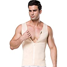 a1df696b22 Men s Slimming Vest with Zipper for Weight Loss Muscle Building Cardio  Endurance Core Strength