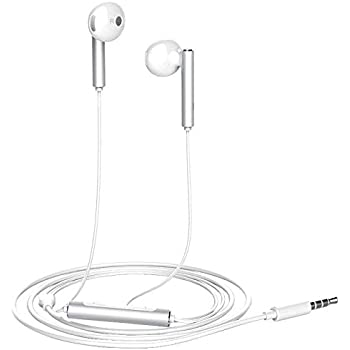 Huawei Earphone AM115 Half In-Ear Headphones with Remote Wire Control and Microphone Foldable Lightweight Earbuds Crystal Clear Audio Stereo Huawei Headsets
