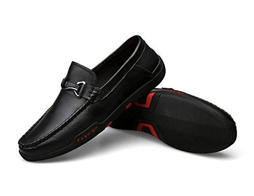 LIYUAN Men and Women Fashion,Leisure,Soft Leather Shoes,Business Advanced Handmade Shoes Black Colour(US7.5=EUR41) ()