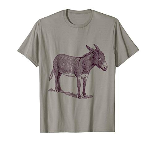 Donkey T-Shirt. Cool Nature Donkey - Donkey T-shirt Yellow
