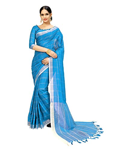 GoSriKi Cotton with Blouse Piece Saree