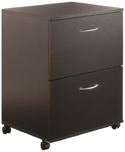 Essentials 2-Drawer Mobile Filing Cabinet 6093 from Nexera, Black by Nexera