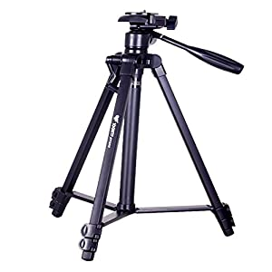 53'' BY-358 UNC 1/4 universal digital camera tripod foldable and portable Aluminum Alloy for all camera mount
