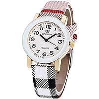 Reloj de limpieza de moda. Noopvan - Reloj de pulsera para mujer con correa de cuero de color único casual analógico de cuarzo X39, 0.01watts, 0.01 kilovolts