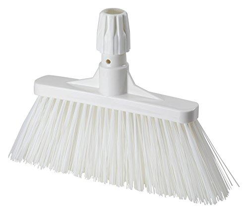 Aricasa Professional Hygiene Wide Broom, White, Medium, 6 Count