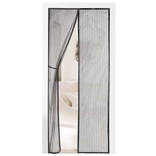 Screen For Sliding Glass Door - Magnetic Screen Door - Self Sealing, Heavy Duty, Hands Free Mesh Partition Keeps Bugs Out - Pet and Kid Friendly - Patent Pending Keep Open Feature - 38