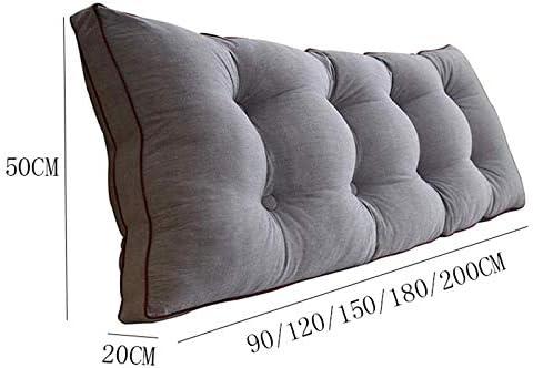 LFOZ Amovible Coussins de Dossier de Chevet, Canapé-lit Tête de lit capitonnée, Soft Tatami Double Grand Coussin de Soutien Lombaire (Color : P, Size : 120x20x50cm)