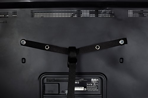 Mount-It! TV Safety Straps For Child and Baby Proofing, Anti-Tip Prevention and Earthquake Protection, Heavy-Duty Metal Connectors, Secures to TV Stand and Walls by Mount-It! (Image #6)