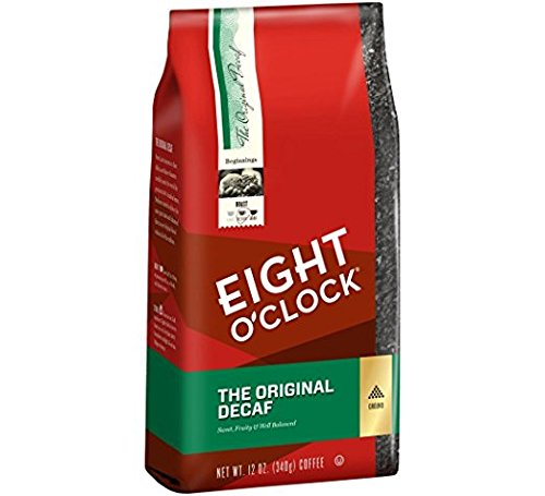 Eight O'Clock Coffee, Decaffeinated Ground, 12-Ounce Bag