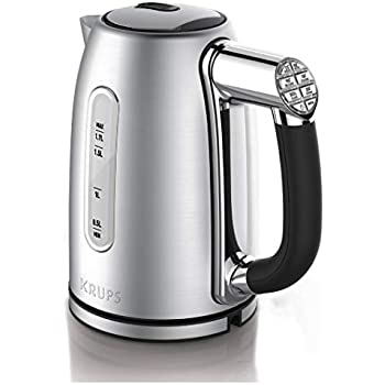 KRUPS BW26 Cool-touch Stainless Steel Double Wall Electric Kettle, 1.5L, Black