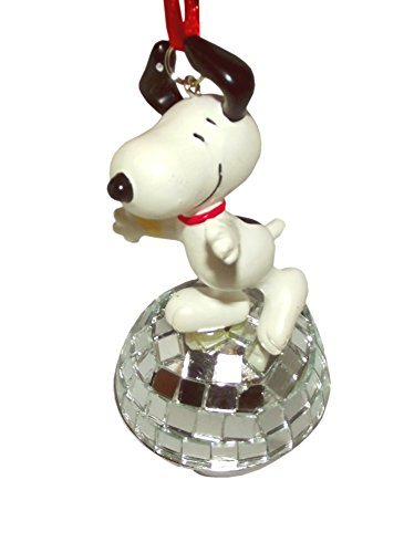 Snoopy Ball (Peanuts Snoopy on Disco Ball Christmas Pendant Necklace)