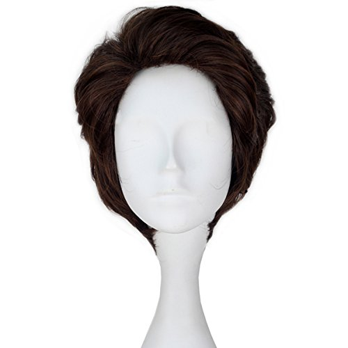 Miss U Hair Prince Wig Men's Short Wavy Brown Hair Cosplay Costume Wig (Wigs Male)
