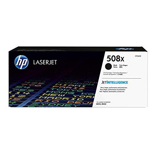 (HP 508X (CF360X) Black High Yield Toner Cartridge for HP Color LaserJet Enterprise M577 M553)