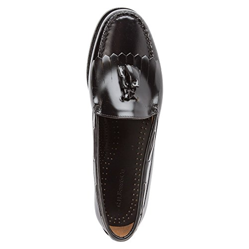 Mocassins Layton Hommes Basse Chaussures Brosse Noire En Cuir