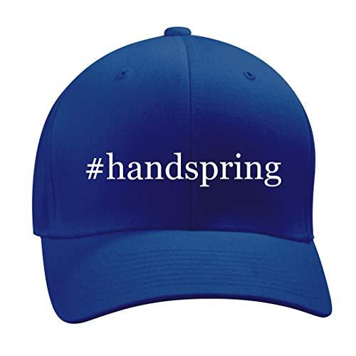 #Handspring - A Nice Hashtag Men's Adult Baseball Hat Cap, Blue, Small/Medium -