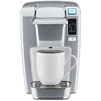 Keurig K15 Single Serve Compact K Cup Pod Coffee Maker Platinum